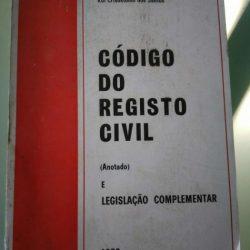 Código do Registo Civil Anotado (1978) - José António de França Pitão / Outros