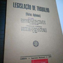 Legislação de Trabalho (vários diplomas - trabalho feminino) - 1970 -