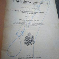 fianças e registo criminal - Abílio Adriano de Sá