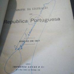 Sinopse da Legislação da Rep. Portuguesa (1927) - Gregório d'Azevedo