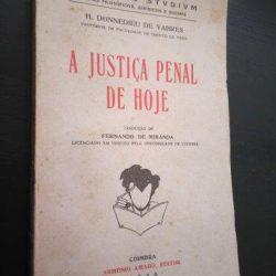 A justiça penal de hoje - H. Donnedieu de Vabres