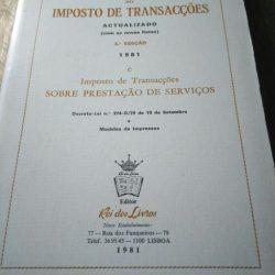 Código do Imposto de Transacções - Rei dos Livros (1981) -