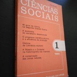 Ciências Sociais n.º 1 - 1985 - Academia das Ciências da URSS -