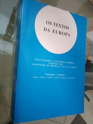 Os textos da Europa - Miguel Almeida Andrade / António V. de Carvalho