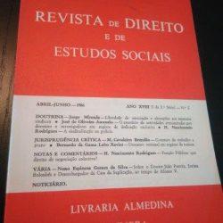 Revista de Direito e de Estudos Sociais - Abril-Junho/1986 -