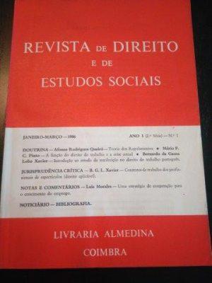 Revista de Direito e de Estudos Sociais - Janeiro-Marco/1986 -