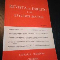 Revista de Direito e de Estudos Sociais - Janeiro-Marco/1988 -