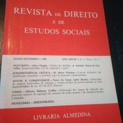 Revista de Direito e de Estudos Sociais - Julho-Setembro/1986 -