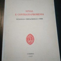 Sinal e contrato-promessa - João Calvão da Silva
