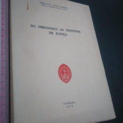 Do Ombudsman ao Provedor de Justiça - Fernando Alves Correia