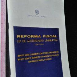Reforma fiscal - Lei de Autorização Legislativa (Anotada