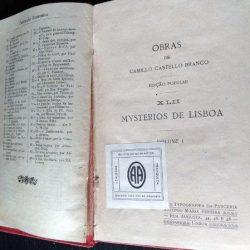 Mysterios de Lisboa (vols. I e II) - Camillo Castello Branco
