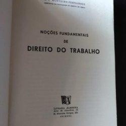 Noções fundamentais de Direito do Trabalho - A. L. Monteiro Fernandes