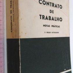 Contrato de trabalho (Notas práticas; 1980) - Abílio Neto
