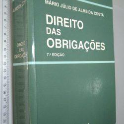 Direito das Obrigações (7.a edição) - Mário Júlio de Almeida Costa