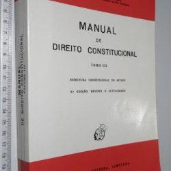 Manual De Direito Constitucional (Tomo III) - Jorge Miranda
