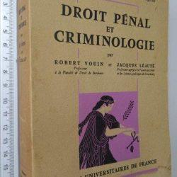 Droit Pénal et Criminologie - Robert Vouin