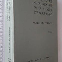 Métodos instrumentais para análise de soluções (Análise quantitativa) - Maria de Lurdes Sadler Simões Gonçalves