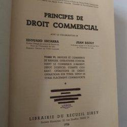 Principes de droit commercial (Tome VI) - Jean Escarra