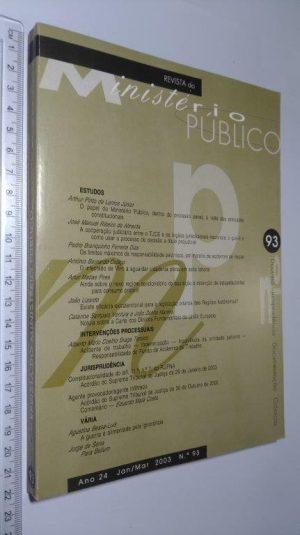 Revista do Ministério Público 93 -