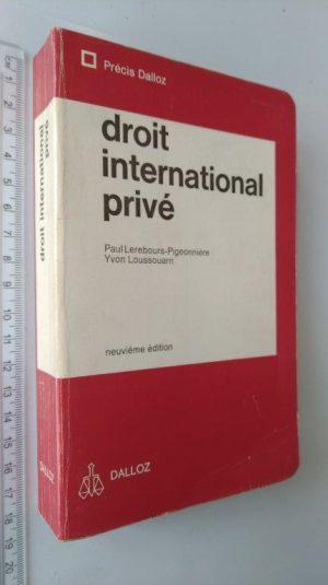 Droit International Privé - Paul Lerebours-Pigeonnière