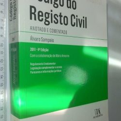 Código do Registo Civil Anotado e Comentado - Álvaro Sampaio