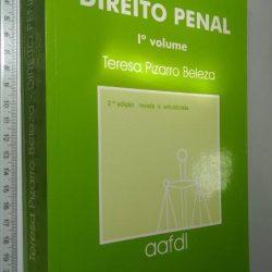 Direito Penal (1.° Vol.) - Teresa Pizarro Beleza