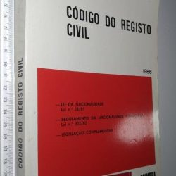 Código do Registo Civil (1986) - F. Sousa Pinto