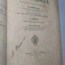 Criminologia (Estudo sobre o delicto e a repressão penal - 1893) - R. Garofalo
