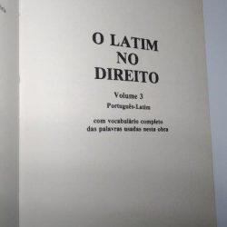O latim no Direito (Vol. III) - Gilberto Caldas