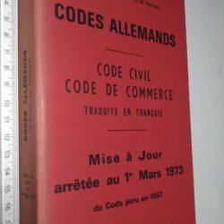 Code de Commerce traduits en français) - Fritz Sturm