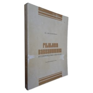 Filologia Filologia Barranquenha - Apontamentos para o seu Estudo - J. Leite de Vasconcelos