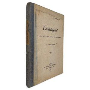 Évangile (Texte Grec Avec Notes Et Dicionaire)- Saint Luc